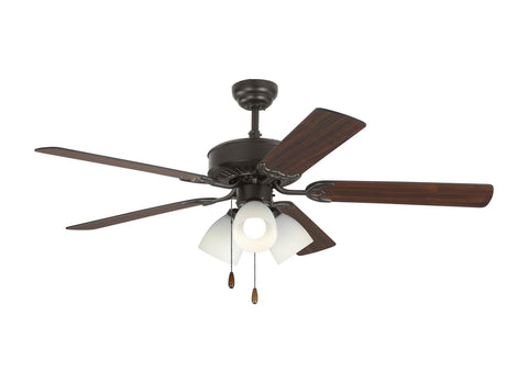 "Monte Carlo 5HV52BZF 52"" Ceiling Fan - Haven 52 LED 3 in Bronze"