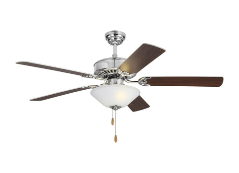 "Monte Carlo 5HV52CHD 52"" Ceiling Fan - Haven 52 LED 2 in Chrome"