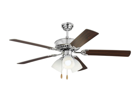"Monte Carlo 5HV52CHF 52"" Ceiling Fan - Haven 52 LED 3 in Chrome"