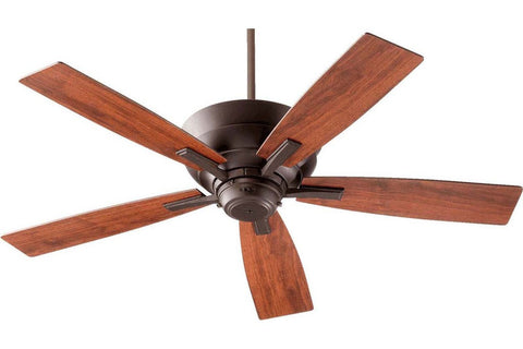 "Quorum 94525-86 52"" Mercer in Oiled Bronze with Vintage Walnut Blades Indoor Rated Ceiling Fan"