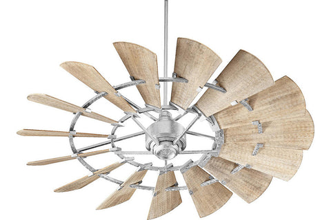 "Quorum 96015-9 60"" Windmill Ceiling Fan in Galvanized"