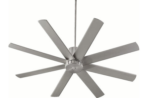 "Quorum 96608-65 60"" Proxima Ceiling Fan in Satin Nickel"
