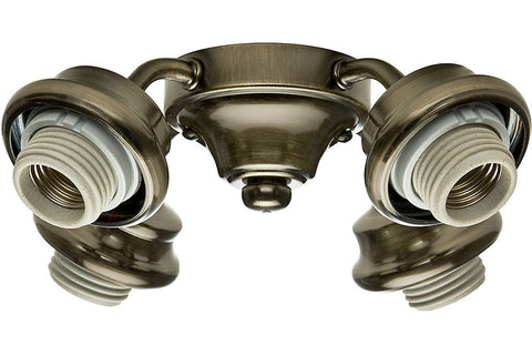 Casablanca 99032 Four-Light Antique Brass Fitter
