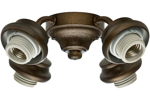 Casablanca 99104 Four-Light Provence Crackle Fitter