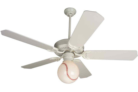 "Craftmade AT52W 52"" American Tradition Ceiling Fan in Gloss White"