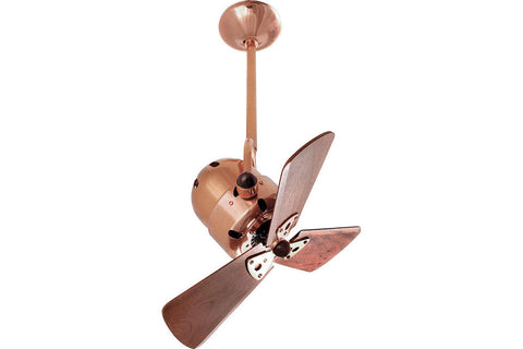 "Matthews Fan Co BD-BRCP-WD 16"" Bianca Direcional in Brushed Copper with Mahogany Blades Indoor Rated Ceiling Fan"