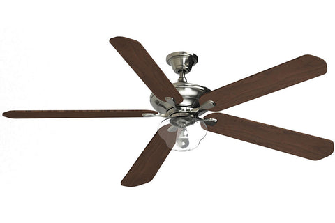 "Fanimation C1BN-B272WA-F2BN-G3CL 72"" Distinction AC Ceiling Fan in Brushed Nickel"