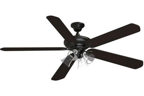 "Fanimation C1DZ-B272DWA-F4BN-G4CL 72"" Distinction AC Ceiling Fan in Dark Bronze"