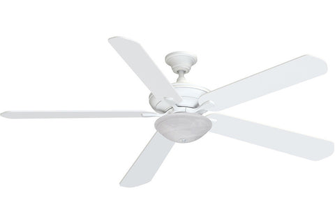 "Fanimation C1MW-B272MW-F3MW-G1MS 72"" Distinction AC Ceiling Fan in Matte White"