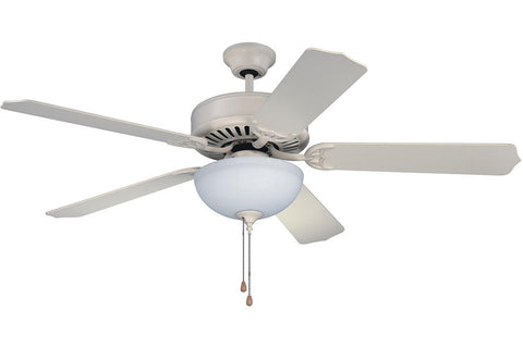 "Craftmade C201AW 52"" Pro Builder 201 Ceiling Fan in Antique White"