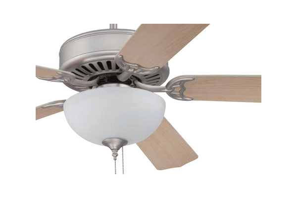 "Craftmade C201BNK 52"" Pro Builder 201 Ceiling Fan in Brushed Polished Nickel"