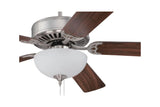 "Craftmade C201BN 52"" Pro Builder 201 Ceiling Fan in Brushed Nickel"