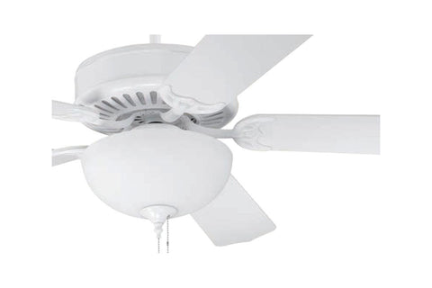 "Craftmade C201W 52"" Pro Builder 201 Ceiling Fan in Gloss White"