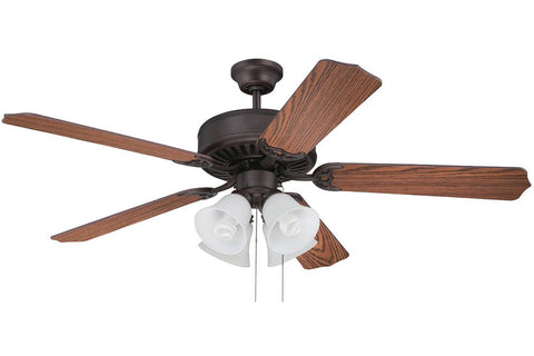"Craftmade C203ABZ 52"" Pro Builder 203 Ceiling Fan in Aged Bronze Brushed"