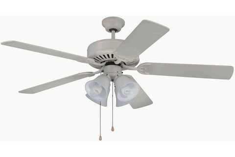 "Craftmade C203AW 52"" Pro Builder 203 Ceiling Fan in Antique White"