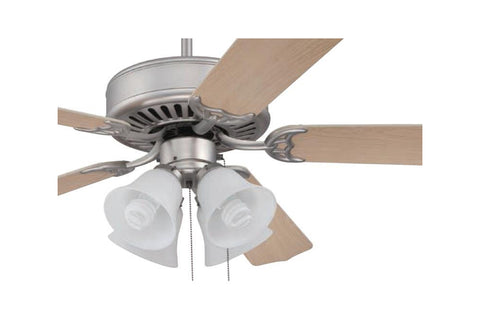 "Craftmade C203BN 52"" Pro Builder 203 Ceiling Fan in Brushed Nickel"