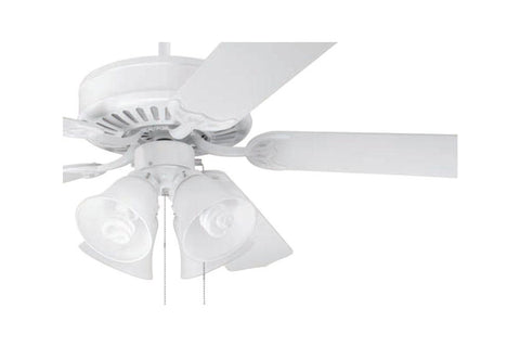 "Craftmade C203W 52"" Pro Builder 203 Ceiling Fan in Gloss White"