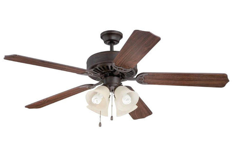 "Craftmade C204AG 52"" Pro Builder 204 Ceiling Fan in Aged Bronze"
