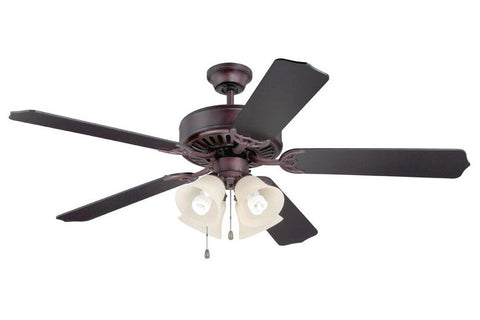"Craftmade C204OB 52"" Pro Builder 204 Ceiling Fan in Oiled Bronze"