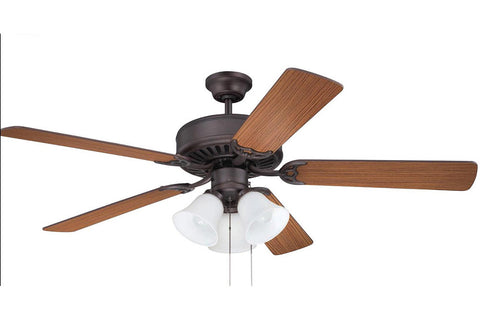 "Craftmade C205ABZ 52"" Pro Builder 205 Ceiling Fan in Aged Bronze Brushed"
