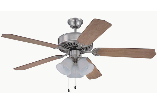 "Craftmade C205BNK 52"" Pro Builder 205 Ceiling Fan in Brushed Polished Nickel"