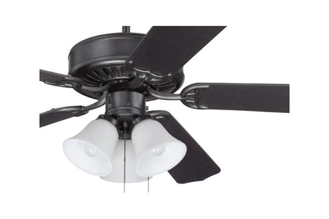 "Craftmade C205FB 52"" Pro Builder 205 Ceiling Fan in Flat Black"