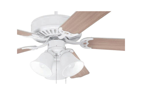"Craftmade C205W 52"" Pro Builder 205 Ceiling Fan in Gloss White"