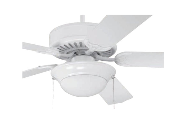 "Craftmade C209W 52"" Pro Builder 209 Ceiling Fan in Gloss White"