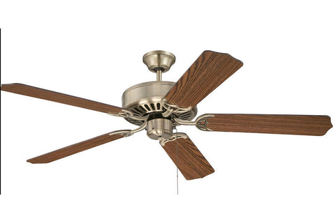 "Craftmade C52AB 52"" Pro Builder Ceiling Fan in Antique Brass"