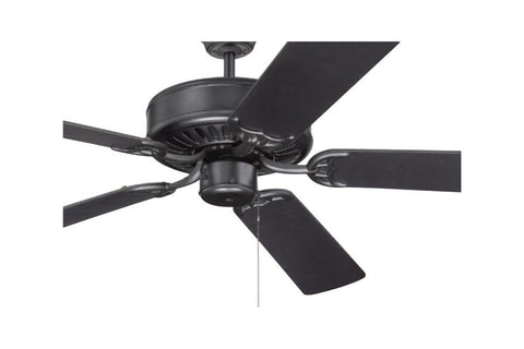 "Craftmade C52FB 52"" Pro Builder Ceiling Fan in Flat Black"