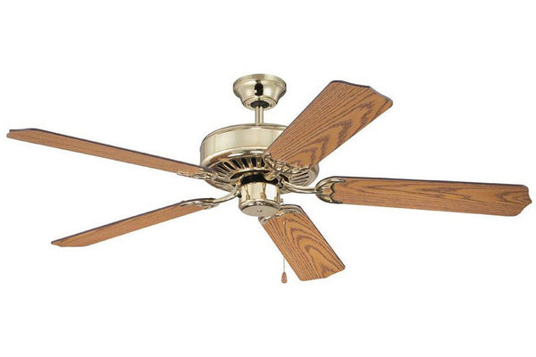 "Craftmade C52PB 52"" Pro Builder Ceiling Fan in Polished Brass"
