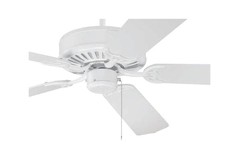 "Craftmade C52W 52"" Pro Builder Ceiling Fan in Gloss White"