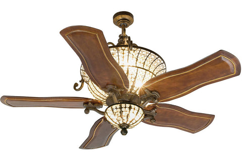"Craftmade CR52PR 52"" Crystal Ceiling Fan in Peruvian (accessories sold separately)"