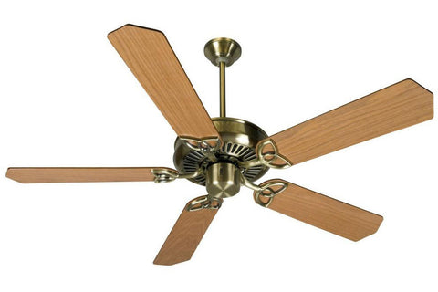 "Craftmade CXL52AB 52"" CXL Ceiling Fan in Antique Brass"
