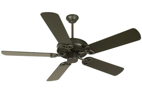 "Craftmade CXL52FB 52"" CXL Ceiling Fan in Flat Black"