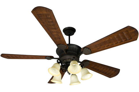 "Craftmade DCEP70AG-B570C-1-LK37CFL-AG 70"" DC Epic Ceiling Fan in Aged Bronze"