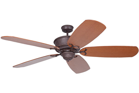 "Craftmade DCRT70AG-B570E-DO4 70"" DC Riata Grande Ceiling Fan in Aged Bronze"