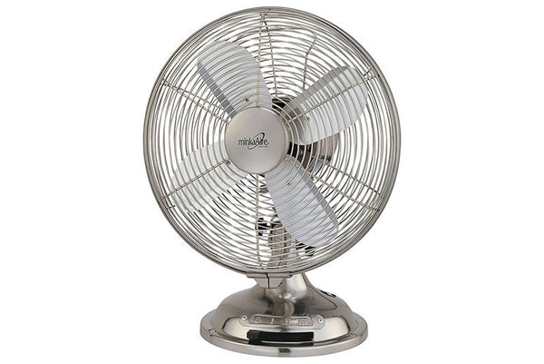 Best Table Top Fan : Minka aire retro style table top fan f bn in brushed