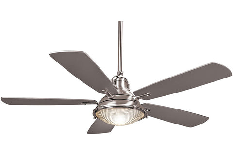 Minka Aire F681-PN GROTON in POLISHED NICKEL with SILVER Blades