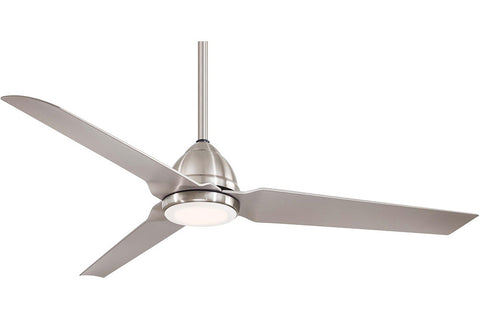 Minka Aire F753L-BNW JAVA in BRUSHED NICKEL WET with SILVER Blades