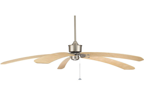 "Fanimation FP320SN1-B6000MP 80"" Islander Ceiling Fan in Satin Nickel"