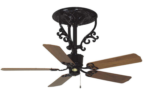 "Fanimation FP410BL 56"" Americana Short Ceiling Fan in Black"