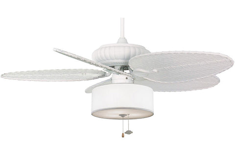 "Fanimation FP4320MW1-BPD4MW-LK113WH 52"" Belleria Ceiling Fan in Matte White"
