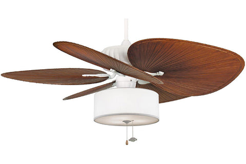 "Fanimation FP4320MW1-BPP1BR-LK113WH 52"" Belleria Ceiling Fan in Matte White"