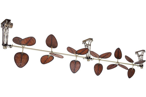 "Fanimation FP602AB 48"" Palmetto 2 Section Ceiling Fan in Antique Brass"