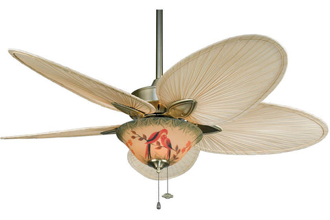 "Fanimation FP7500AB-F423AB-G439 52"" Windpointe Ceiling Fan in Antique Brass"
