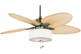"Fanimation FP7500AB-LK113WH 52"" Windpointe Ceiling Fan in Antique Brass"