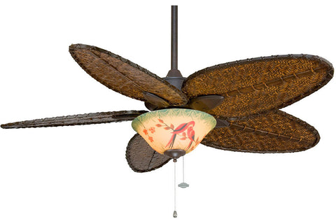 "Fanimation FP7500RS-F423RS-G439 52"" Windpointe Ceiling Fan in Rust"