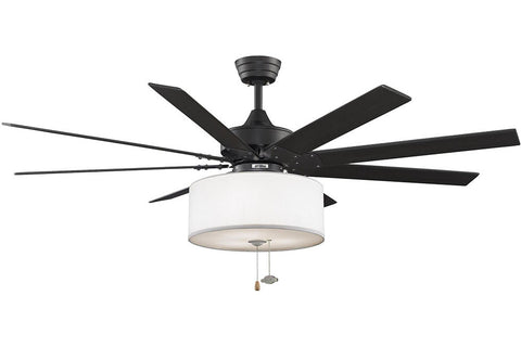 "Fanimation FP7910BL-LK113WH 63"" Levon Ceiling Fan in Black"
