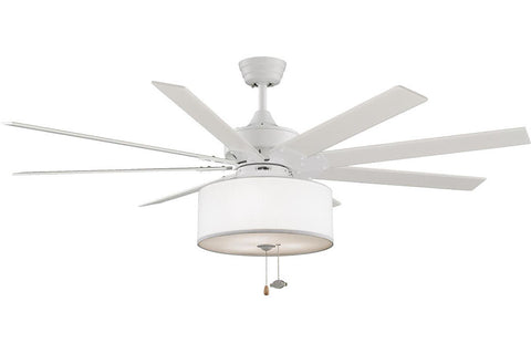 "Fanimation FP7910MW-LK113WH 63"" Levon Ceiling Fan in Matte White"